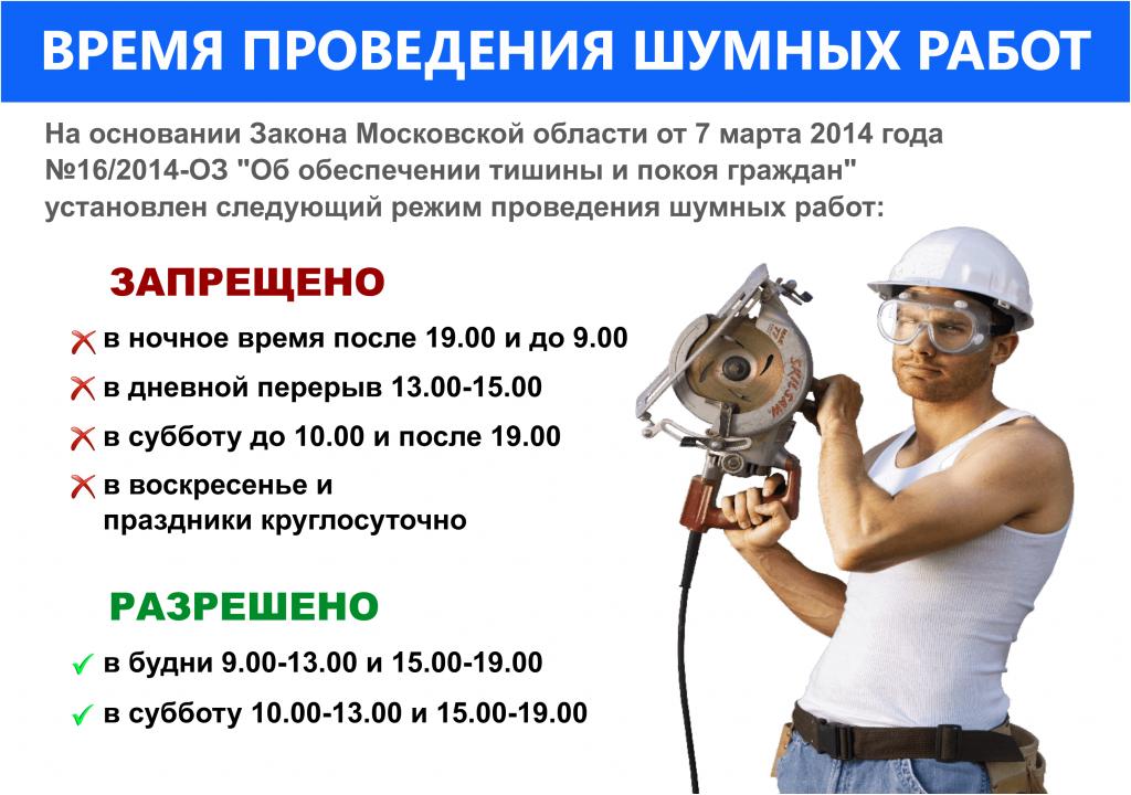 время строительных работ в квартире в москве